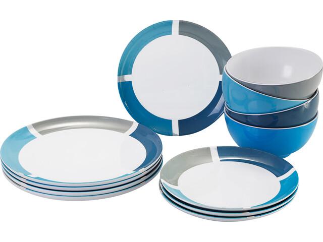 Brunner Midday Serviesset, wit/blauw